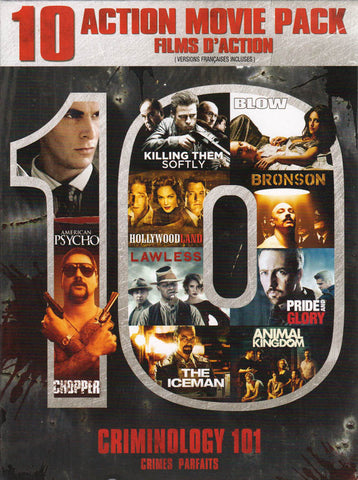 Criminology 101 - 10 Action Movie Pack (Boxset) (Bilingual) DVD Movie