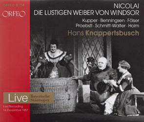 Otto Nicolai - Die Lustigen Weiber Von Windsor (CD) DVD Movie