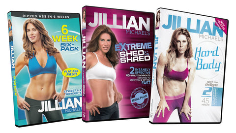 Jillian Michaels (6 Week Six-Pack / Extreme Shed and Shred / Hard Body) (3-Pack) DVD Movie