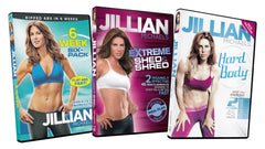 Jillian Michaels (6 Week Six-Pack / Extreme Shed and Shred / Hard Body) (3-Pack)