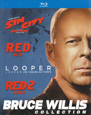Bruce Willis Collection (Sin City / Red / Looper / Red 2) (Blu-ray) (Boxset) (Bilingual) BLU-RAY Movie
