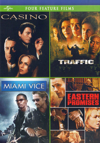 Casino / Traffic / Miami Vice / Eastern Promises (Four Feature Films) DVD Movie