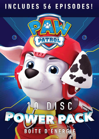 PAW Patrol 10-Disc Power Pack (56 Episodes) (Boxset) DVD Movie