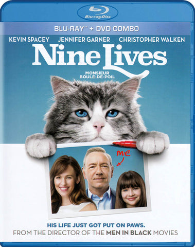 Nine Lives (Bilingual) (Blu-ray + DVD Combo) (Blu-ray) BLU-RAY Movie