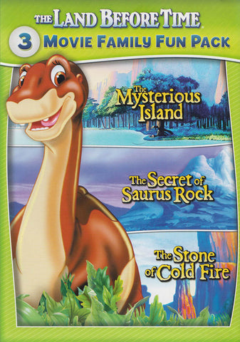 The Land Before Time : V - VII (Mysterious Island / Secret of Saurus Rock / Stone of Cold Fire) DVD Movie