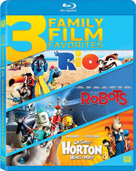 Rio / Robots / Dr. Seuss Horton Hears a Who (3 Family Film Favorites) (Blu-ray)