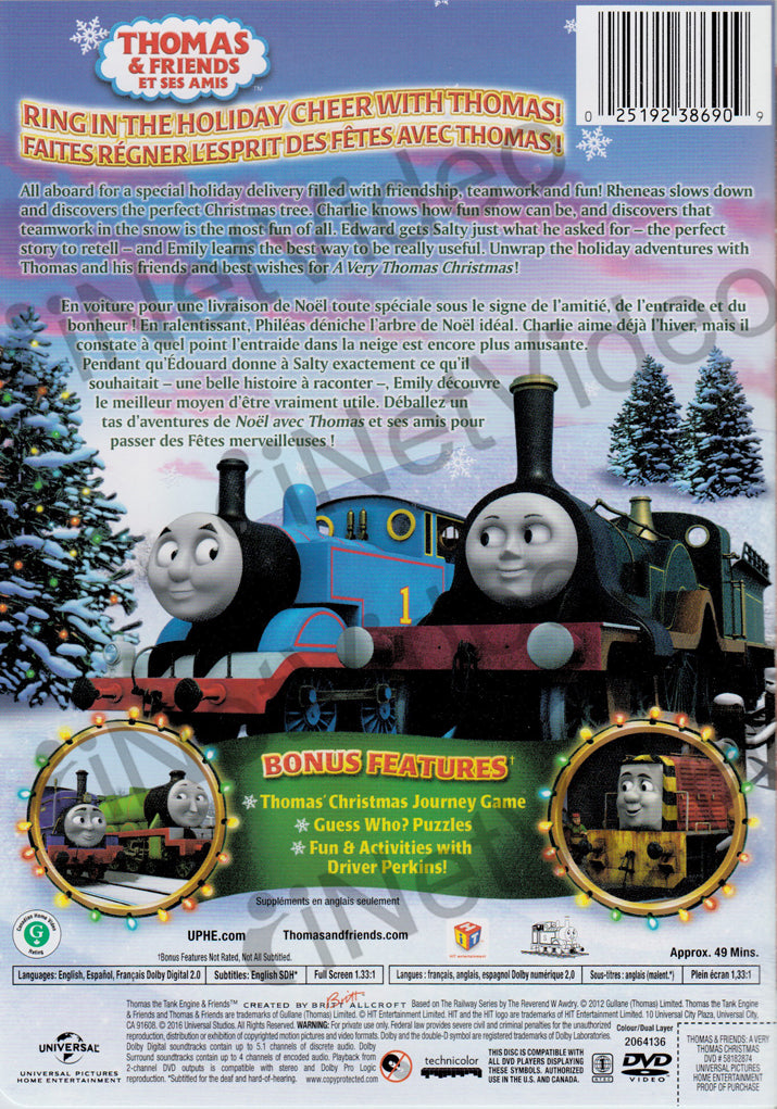 thomas and friends a very thomas christmas bilingual dvd movie