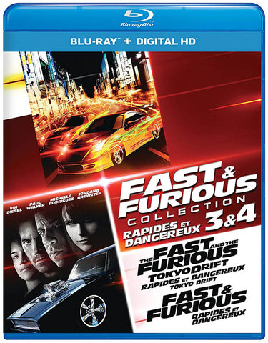 Fast & Furious Collection 3 & 4 (Blu-ray) (Bilingual) BLU-RAY Movie