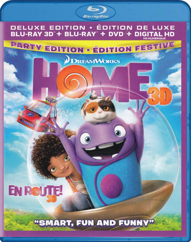 Home 3D (Deluxe Edition) (Blu-ray 3D + Blu-ray + DVD) (Blu-ray) (Bilingual) BLU-RAY Movie