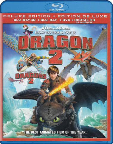 How to Train Your Dragon 2 (Deluxe Edition) (Blu-ray 3D + Blu-ray + DVD) (Blu-ray) (Bilingual) BLU-RAY Movie