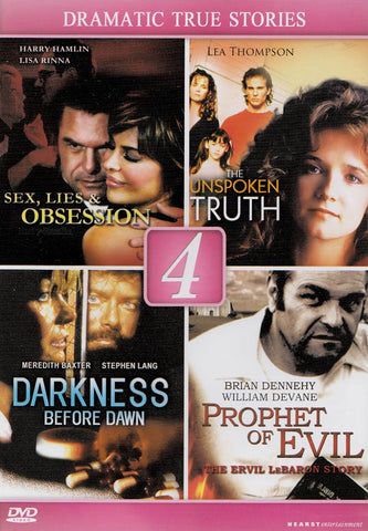 Dramatic True Stories (Sex, Lies & Obsession/Unspoken Truth/Darkness Before Dawn/Prophet Of Evil) DVD Movie
