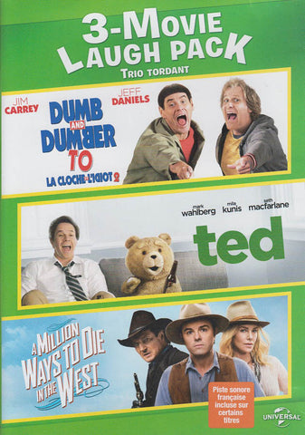 Dumb and Dumber To / Ted / A Million Ways To Die In The West (3-Movie Laugh Pack) (Bilingual) DVD Movie