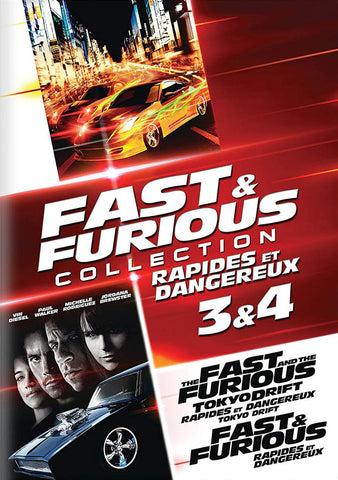 Fast & Furious Collection 3 & 4 (The Fast & The Furious: Tokyo Drift / Fast & Furious) (Bilingual) DVD Movie