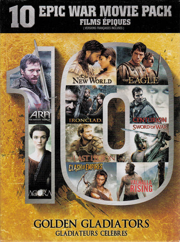 Golden Gladiators: 10 Epic War Movie Pack (Arn ...... Valhalla Rising) (Bilingual) (Boxset) DVD Movie