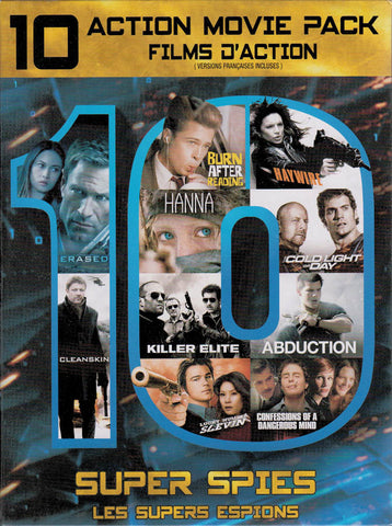 Super Spies: 10 Action Movie Pack (Haywire ..... Lucky Number Slevin) (Bilingual) (Boxset) DVD Movie