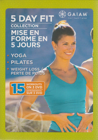 5 Day Fit Collection(5 Day Fit Yoga / 5 Day Fit Weight Loss / 5 Day Fit Pilates)(Boxset)(Bilingual) DVD Movie