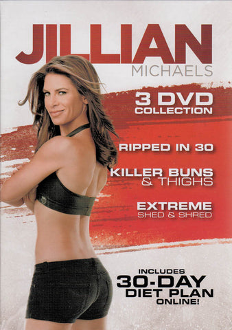 Jillian Michaels (Ripped in 30 / Killer Buns & Thighs / Extreme Shed & Shred) (Boxset) DVD Movie