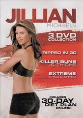 Jillian Michaels (Ripped in 30 / Killer Buns & Thighs / Extreme Shed & Shred) (Boxset)