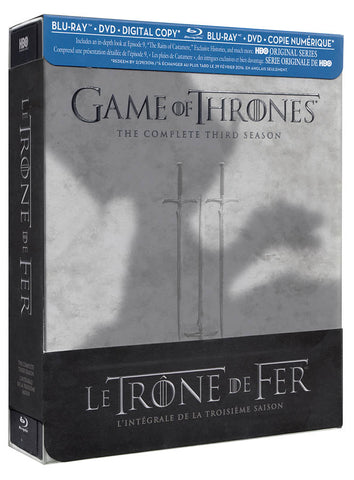 Game of Thrones (The Complete Third (3) Season) (Blu-ray / DVD / DC) (Blu-ray) (Bilingual) BLU-RAY Movie