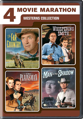 4 Western Adventures (The Far Country / Whispering Smith / The Plainsman / Man In The Shadow) DVD Movie