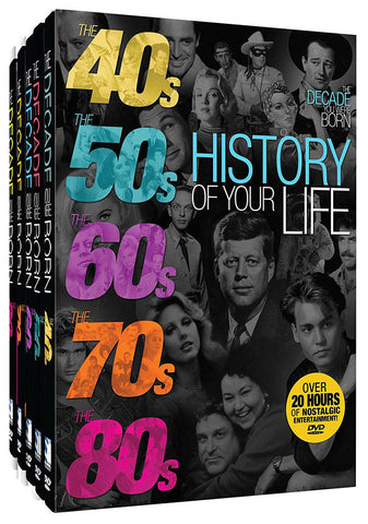 The Decade You Were Born - History Of Your Life (The 40s / 50s / 60s / 70s / 80s) (Boxset) DVD Movie