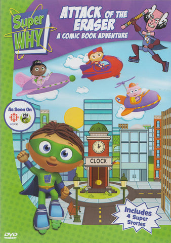 Super Why : Attack Of The Eraser - A Comic Book Adventure DVD Movie