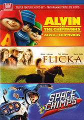 Alvin and the Chipmunks / Flicka / Space Chimps (Triple Feature) (Blue Cover) (Bilingual)