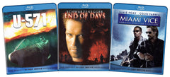 U-571 / End of Days / Miami Vice (Blu-ray Hi-Def Action Starter 3-Pack) (Blu ray) (Boxset)