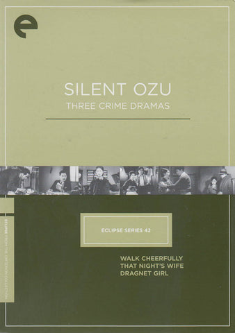 Silent Ozu - Three Crime Dramas (Eclipse Series 42) (The Criterion Collection) (Boxset) DVD Movie