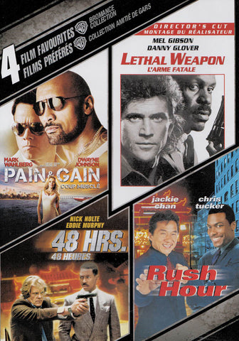 4 Film Favorites: Bromance Collection (Pain & Gain / Rush Hour / Lethal Weapon / 48 Hrs)(Bilingual) DVD Movie