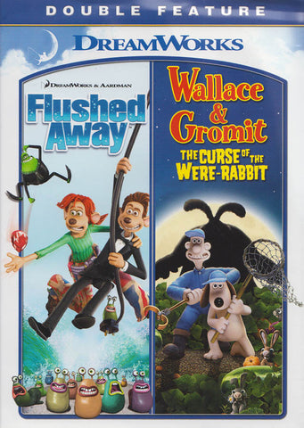 Flushed Away / Wallace & Gromit : The Curse of the Were-Rabbit (Double Feature) DVD Movie