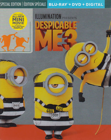 Despicable Me 3 (Steelbook) (Blu-ray + DVD + Digital) (Blu-ray) (Bilingual) BLU-RAY Movie
