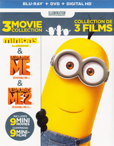 Minions / Despicable Me / Despicable Me 2 (Blu-ray + DVD) (Blu-ray) (Boxset) (Bilingual) BLU-RAY Movie
