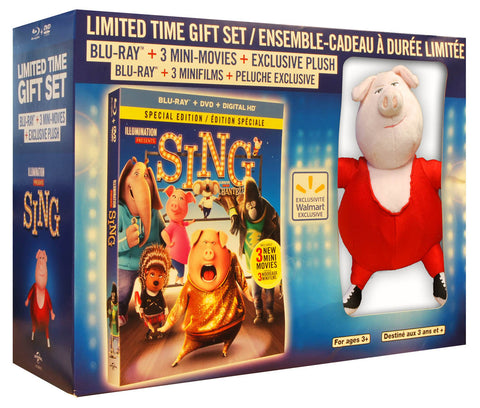 Sing Limited Time Gift Set (Blu-ray + DVD + Digital HD) (Special Edition) (Boxset) (Bilingual) BLU-RAY Movie