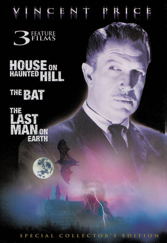The House on Haunted Hill / The Bat / The Last Man on Earth DVD Movie