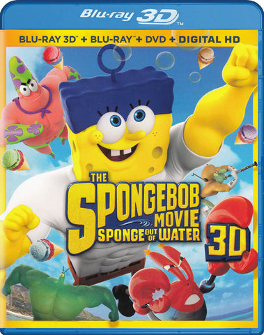 The SpongeBob Movie - Sponge Out Of Water 3D (Blu-ray 3D + Blu-ray + DVD + Digital HD) (Blu-ray) BLU-RAY Movie