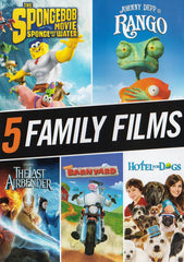 5 Family Films (The Spongebob / Rango / The Last Airbender / Barnyard / Hotel for Dogs)