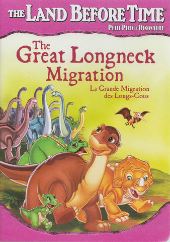 The Land Before Time - The Great Longneck Migration (Pink Cover) (Bilingual) DVD Movie