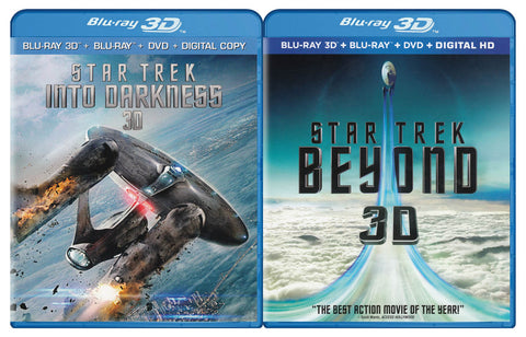 Star Trek Into Darkness 3D / Star Trek - Beyond 3D (Blu-ray 3D / Blu-ray / DVD / Digital) (Blu-ray) BLU-RAY Movie