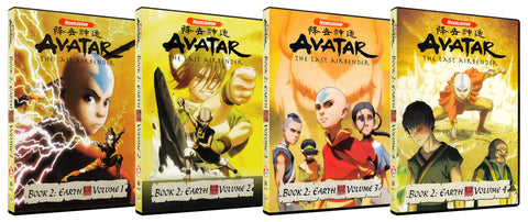 Avatar - The Last Airbender (Book 2 - Earth / Volume 1 - 4) (Boxset) DVD Movie