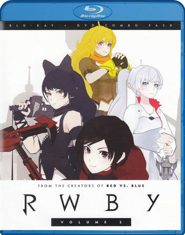 Rwby (Volume 2) (Blu-ray + DVD Combo Pack) (Blu-ray) BLU-RAY Movie