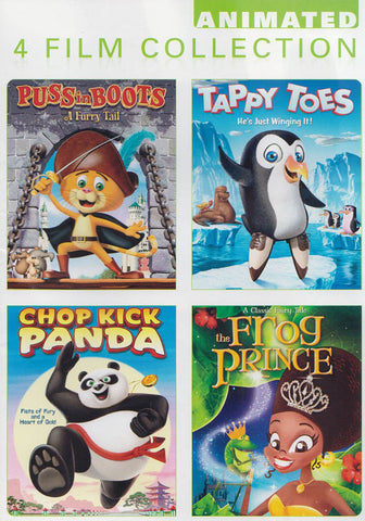 Puss In Boots / Tappy Toes / The Frog Prince / Chop Kick Panda (4 Film Collection) DVD Movie