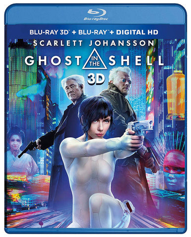 Ghost In The Shell (Blu-ray 3D + Blu-ray + Digital HD) (Blu-ray) BLU-RAY Movie