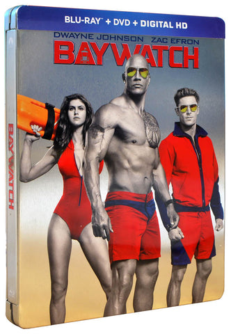 Baywatch (Steelbook) (Blu-ray + DVD + Digital HD) (Blu-ray) BLU-RAY Movie