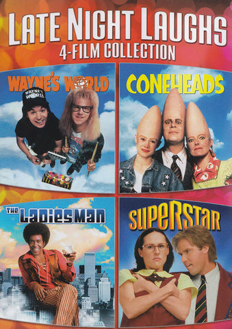 Late Night Laughs (4-Film Collection) (Wayne's World / Coneheads / The Ladies Man / Superstar) DVD Movie
