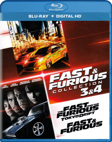 The Fast And Furious Collection : 3 & 4 (Blu-ray + Digital HD) (Blu-ray) BLU-RAY Movie