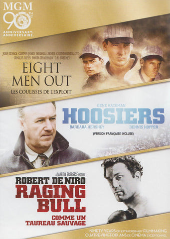 Eight Men Out/Raging Bull/Hoosiers (MGM 90th Anniversary Edition) (Bilingual) DVD Movie