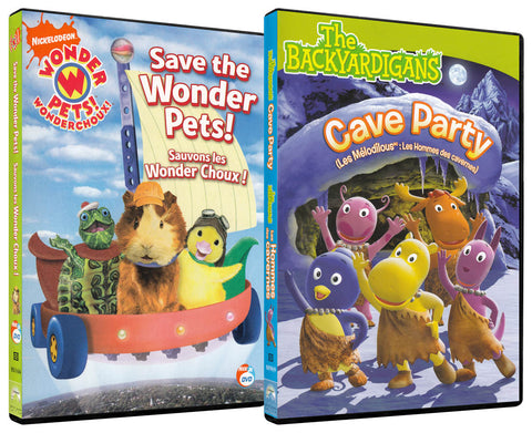 Save The Wonder Pets / Cave Party(2 Pack) (Bilingual) DVD Movie