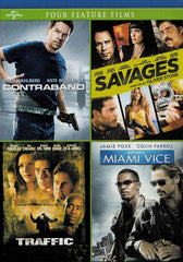 Contraband / Savages / Traffic / Miami Vice (4-Feature Films)