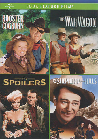 Four Feature Films (Rooster Cogburn / The War Wagon / The Spoilers / Shepherd Of the Hills) DVD Movie